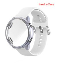 Чехол + ремешок для Samsung Galaxy watch active 2 40 мм 44 мм Смарт-часы силиконовый чехол + ремешок Galaxy watch active2 полный комплект