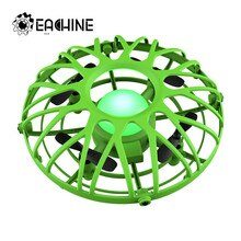 Eachine E111 미니 드론 UFO 적외선 감지 제어 핸드 항공기 Quadcopter Infraed 유도 Intlligent 블루/그린 RC 아이 장난감