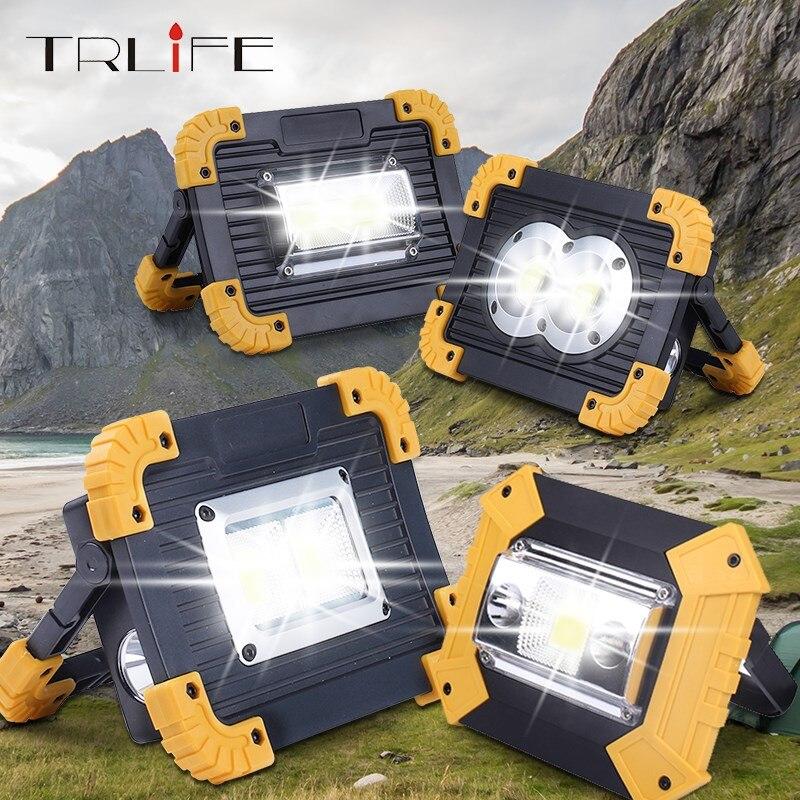 Foco Led de 4000LM, luz Led portátil de trabajo recargable, batería de 18650, luz Led de exterior, linterna frontal para caza y Camping