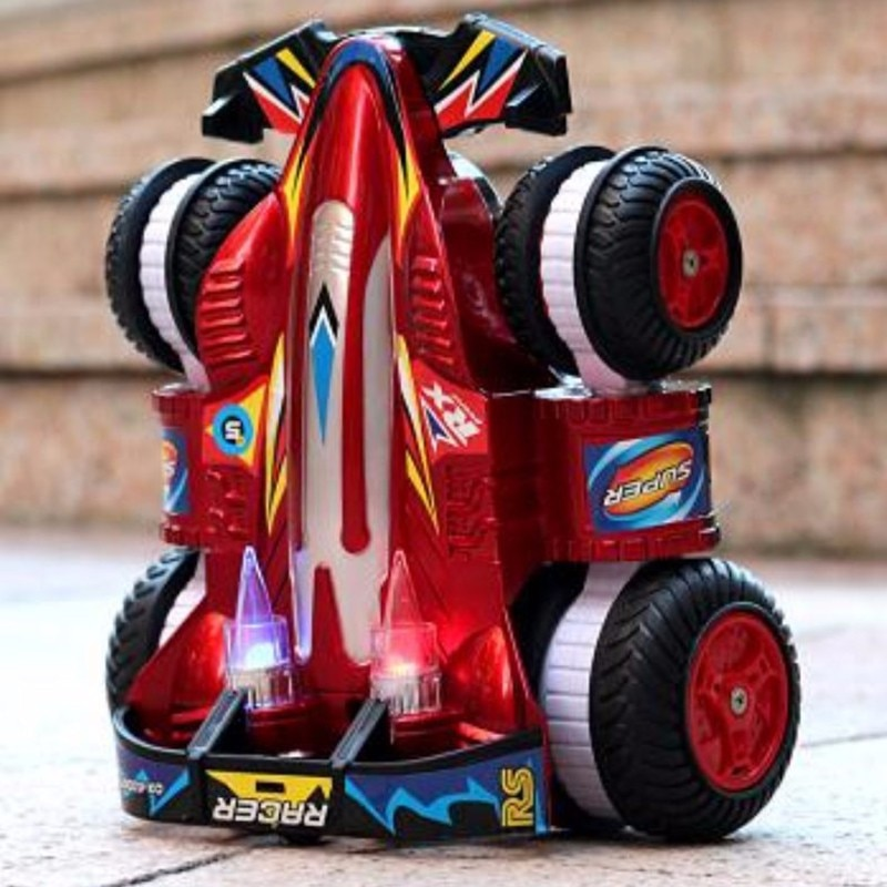 2,4G Control remoto coche acrobacias Drift Racing juguete Tumbling Carga de coche juguete de los niños transformación Rc Coche