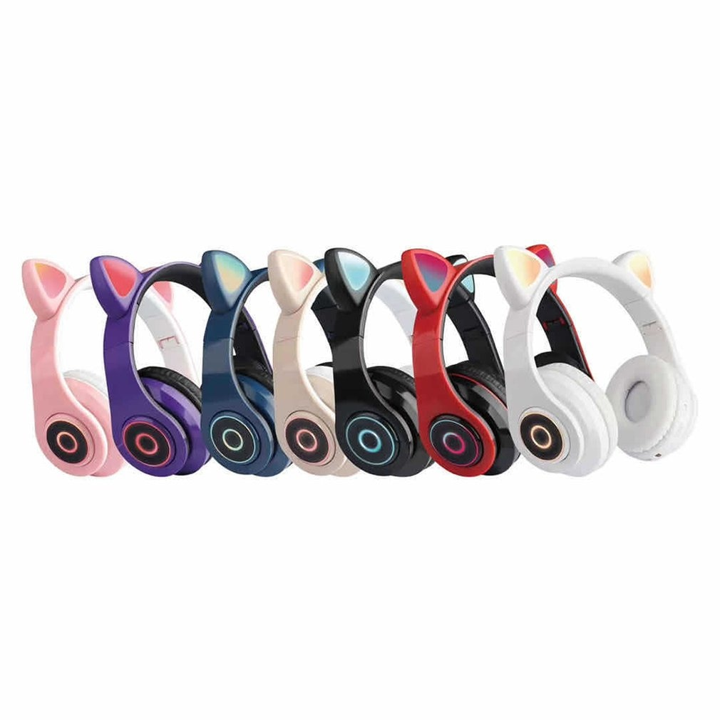 B39 Cat Ears Headphones Bilateral Stereo Wireless Headset Headphone For Kids Girls Support Music Voice Control enlarge