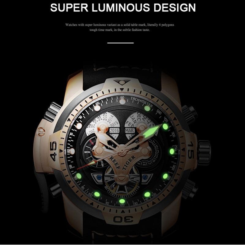 2020 reef tiger/et masculino designer relógios grande dial complicado calendário perpétuo pulseira de borracha relógio relogio masculino rga3503