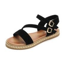 = Frauen Casual Echtem Leder Sandalen Flache Ferse Sommer Schuhe Frau Patch Strand Schuhe Große Größe Mutter Schuhe