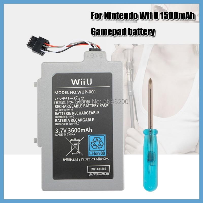 Paquete de batería recargable de ión-litio para Nintendo Wii U, 3,7 V,...