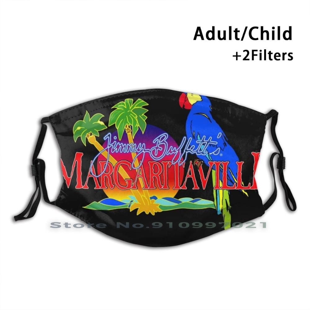 Jimmy Buffett Print Reusable Mask Pm2.5 Filter Trendy Mouth Face Mask For Child Adult Music Country Jimmy Buffett Top Country