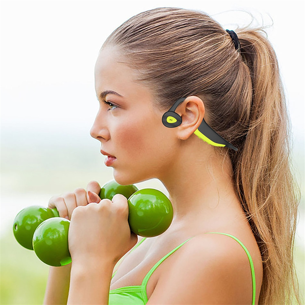 Waterproof Bone Bluetooth 5.0 Conduction Headset 16G HIFI MP3 Player Outdoor Sport Earphones USB MP3 Music Players enlarge