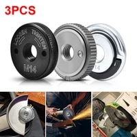 3pcs angle grinder inner outer flange nut m14 quick clamping nut power replacement for bosch metabo milwaukee makita