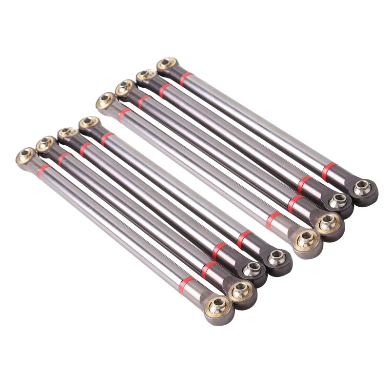 8pcs Aluminum Alloy Chassis RC Linkage Link Rod for 1/10 RC Crawler Car Axial SCX10 II 90046 Accessories