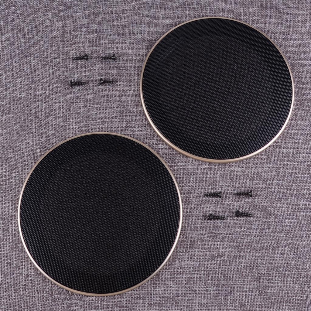 "DWCX 2PCS 5"" Inch Car Audio Speaker Subwoofer Grill Mesh Dust Covers Protector Cap"