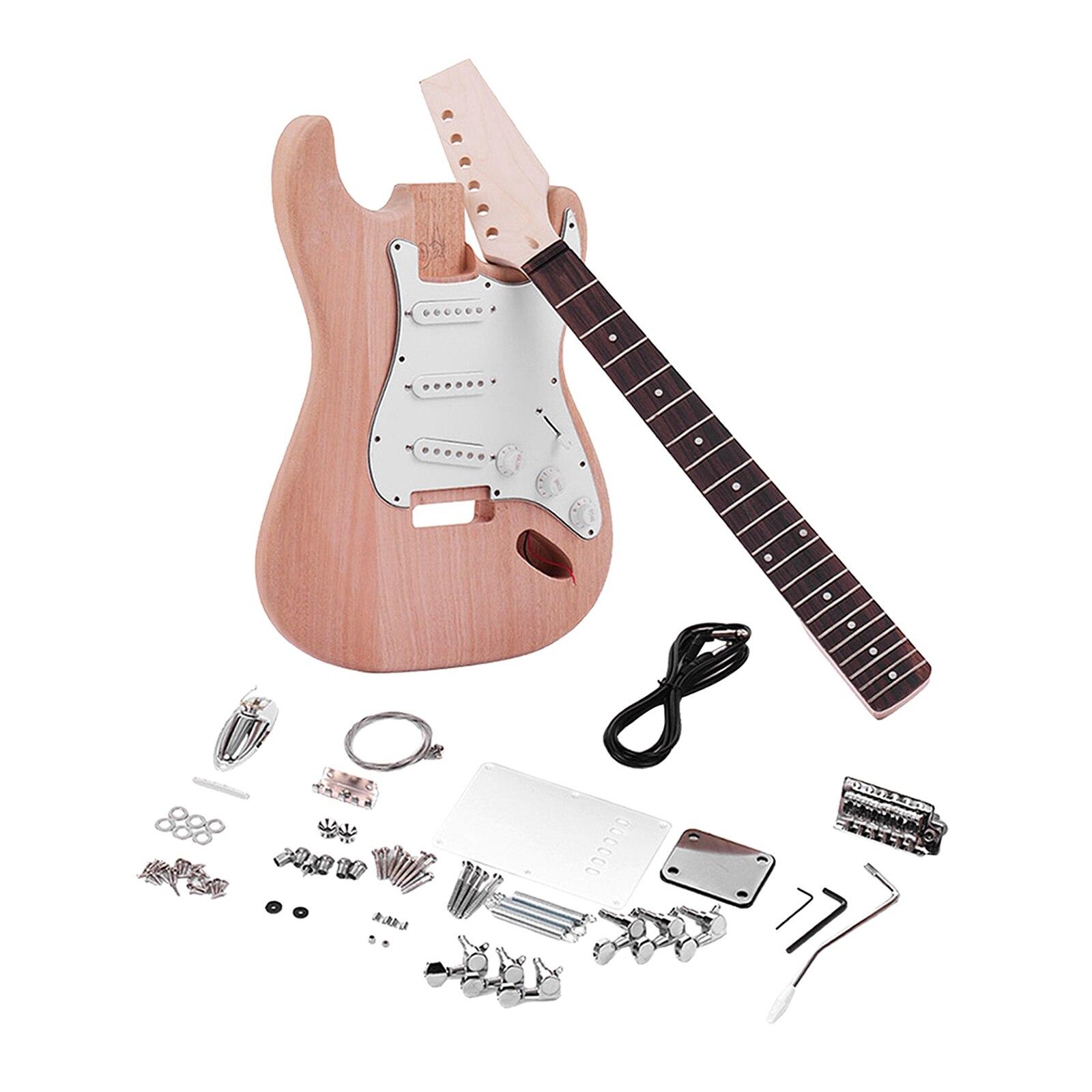طقم جيتار كهربائي من خشب الماهوجني ، قطع غيار غير مكتملة ، هدية لمحبي الجيتار على طراز ST