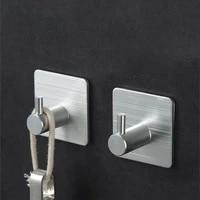Crochet de suspension en aluminium  crochet auto-adhesif en acier inoxydable  support de rangement mural pour la maison  porte-serviettes de salle de bains  trou daccessoires de cuisine