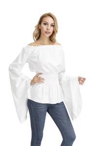 Vintage Long Sleeve Gothic Blouse Women Medieval Vintage Victorian Blouse Medieval Shirt Plus Size