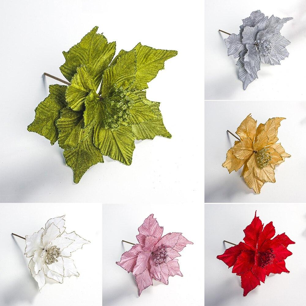 Украшения для новогодней елки, искусственные цветы, 28 х24 см
