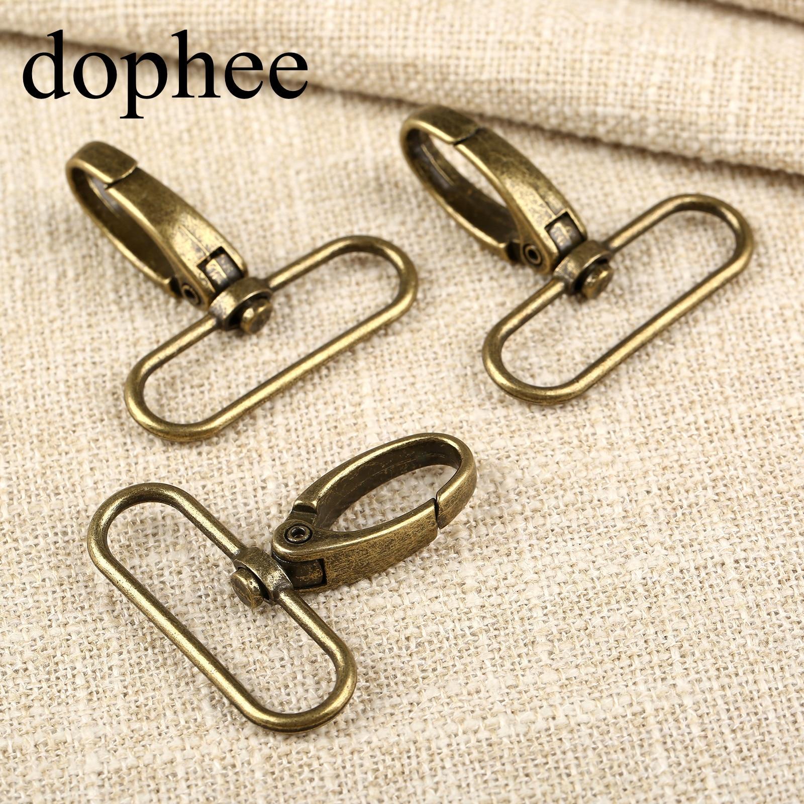 dophee 20pcs/lot Metal Luggage bag Dog buckle Snap hook Bag hanger Lobster Clasp DIY Sewing handmade Key chain buttons LW664