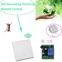 self generator electricity wall panel remote control switch 12v relay switch module receiver 12v 10a 1ch remote switch
