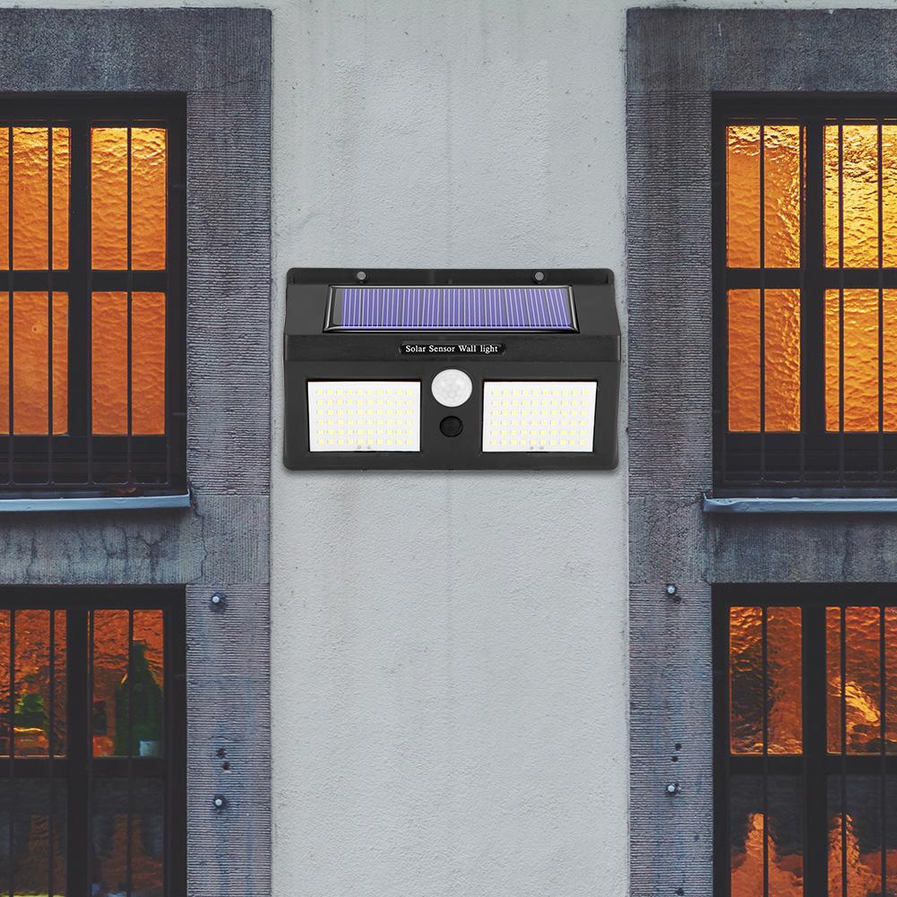 120led solar two-sided lâmpada de parede habilmente fabricação qualidade superior ao ar livre sensor de movimento jardim luz de segurança