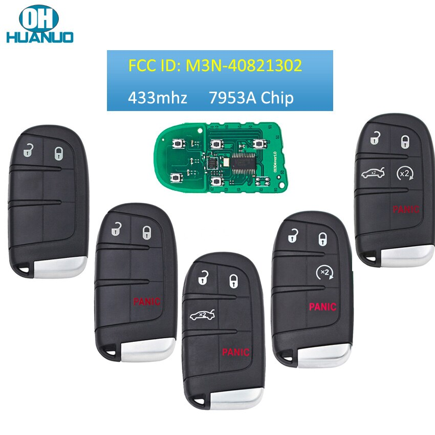 2/3/4/5 botões remoto chave fob para-dodge durango 2014-2018 para jeep 433mhz com id46 chip 7953a lápide gen4 fcc m3n40821302
