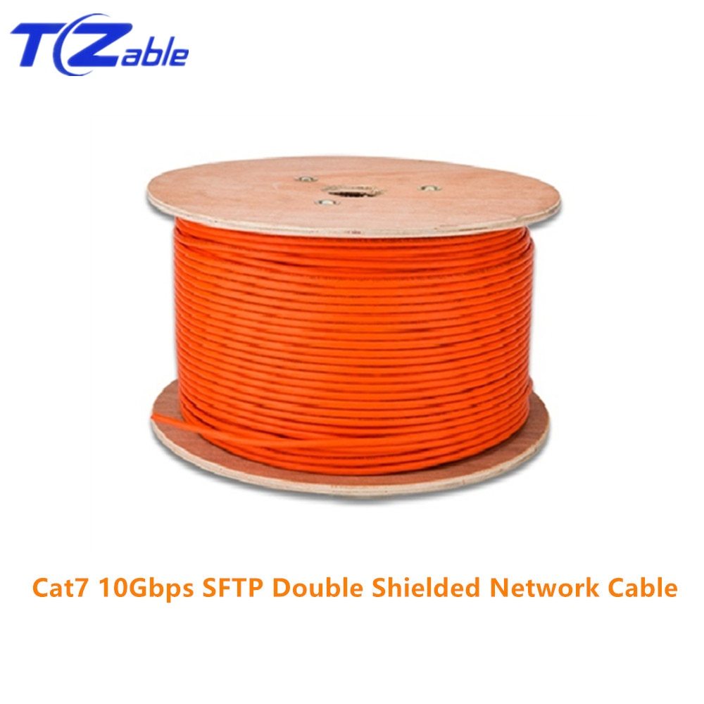 Cable Ethernet RJ45 Cat7 10Gbps alta velocidad SFTP Cable de red de ingeniería de cobre puro blindado doble AWG23 LSZH admite FTTH