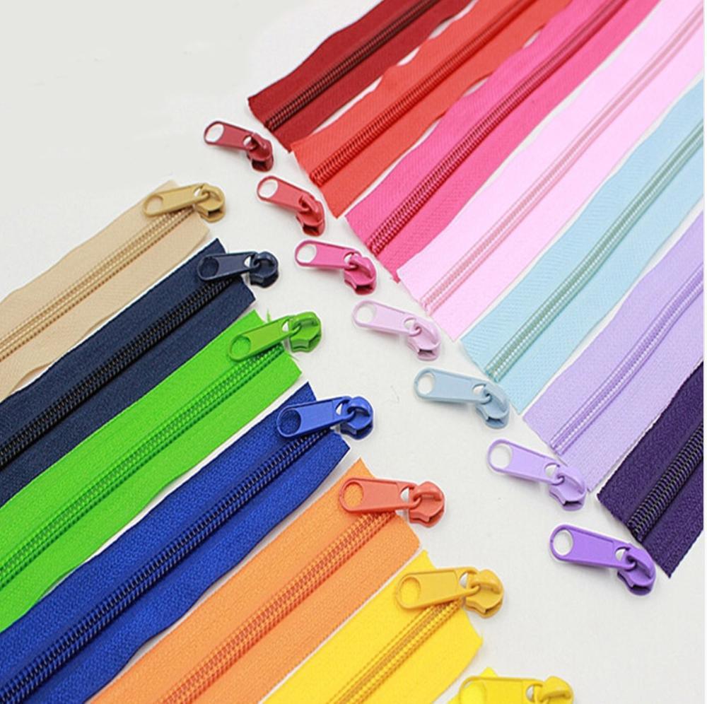 Cremalleras de bobina de nailon Alipress 5 # para manualidades bolsas de costura accesorios de ropa de zapatos 10 metros 22 colores disponibles