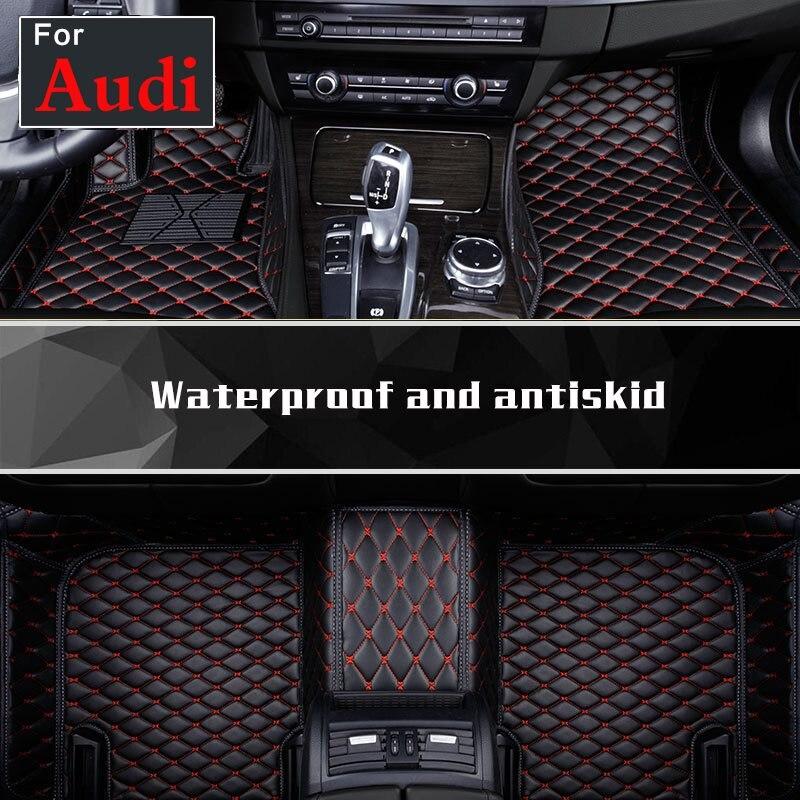 Interior del coche de estilo piso alfombras de piso de ajuste-clima impermeable para Audi A8l R8 Tt Tts Rs-5 Rs-7 rs-6 Rs-4 Tt Rs Rs-3