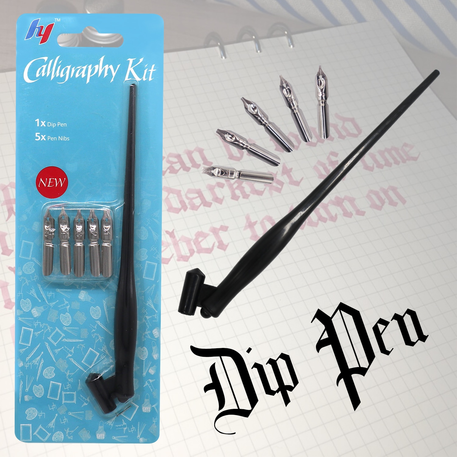 Фото - New Fountain Pen Calligraphy Drawing Dip Ink 5Pcs Nib Pen Set Signature Writing Antique Elegant Gifts rescue ink rescue ink