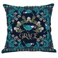 european vintage cushion cover cotton linen floral plant printed decorative pillow cover 4545 farmhouse sofa pillows decor home