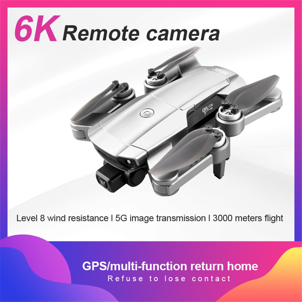 Mini 6K Camera Drone Altitude Hold WiFi FPV Foldable RC Quadcopter Brushless 6 Axis Aircraft Kids Adults Gift enlarge