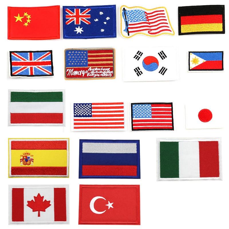 США, США, Германии, России, Великобритании, Израиля, Испании, мира, вышитый флаг нашивка железа на одежда, патчи для одежды