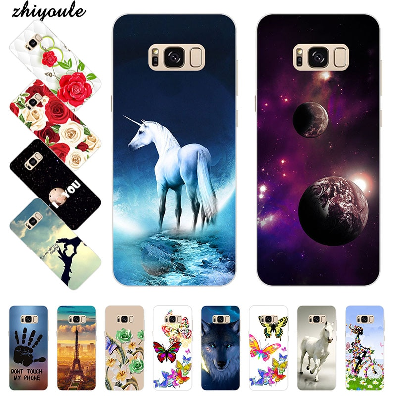 Luxury Painted TPU Soft Print Phone Case for Samsung Galaxy S8 plus Soft Silicone Back Cover Cases P