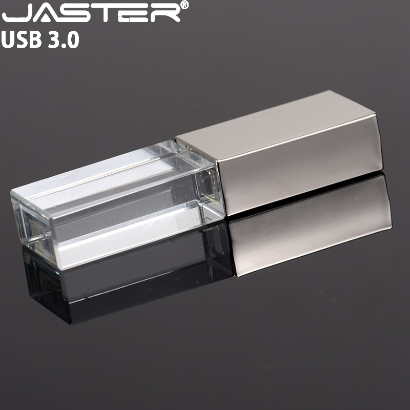JASTER USB 3,0 Kristall Stift Stick Silber USB-Stick 4GB 8GB 16GB 32GB 64GB schwarz Flash Karte Disk Goldene Flash Memory Stick