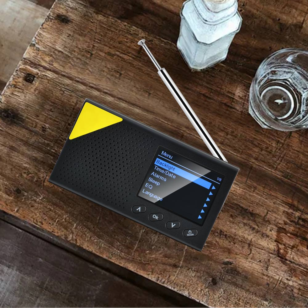 Portable Mini Color Sn DAB/DAB+ Digital Radio Receiver Car MP3 Music Player Fm Lightweight Home Radio Rechargeable Digital Radio enlarge