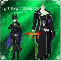game twisted wonderland diasomnia malleus draconia cosplay costume asian men uniform pants shirt devil horns accessory halloween