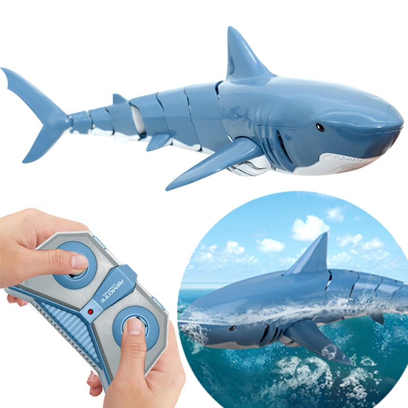 Tiburón de juguete con Control remoto para niños, robot de juguete con...