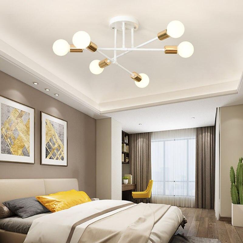 moderno e minimalista nordic lampada do teto sala de estar molecular lampada quarto