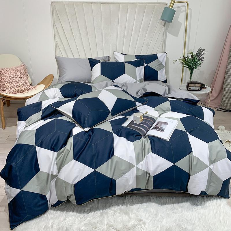 Sateen Cotton Luxury Duvet Cover Set Queen King size JPcs Floral Flowers Leaves Botanical Bedding Set Bed sheet set Pillowcase