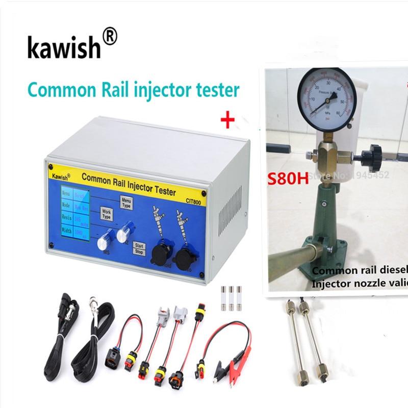 kawish CIT800 multifunction diesel common rail injector tester diesel Piezo Injector tester + S80H injector validator