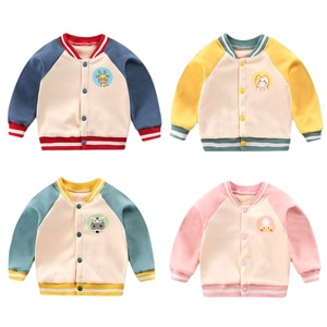 2021 New Spring Autumn Winter Active 0-5 Y Children Full Sleeve Sports Outwear Coats Kids Baby Boy Baseball Plus Velet Jacket