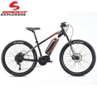 seroxat e bike mountain bike 27 5er mtb hybrid bike aluminum alloy e bike fork 120mm motor 350w battery 36v16ah complete bike