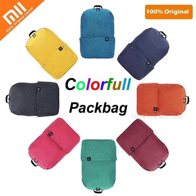Original Xiaomi mi 10L mochila bolsa impermeable colorido ocio deportes pecho Pack bolsas Unisex para hombres mujeres viaje bolsa de Camping