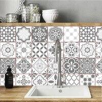 Carreaux de sol de Style gris  autocollants muraux diagonaux  sparadrap muraux personnalises  vinyle Vintage Europe salle de bains cuisine  ligne de taille