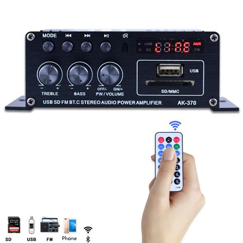400w 2*200 estéreo de alta fidelidade carro casa subwoofer som do carro amplificador áudio amp som