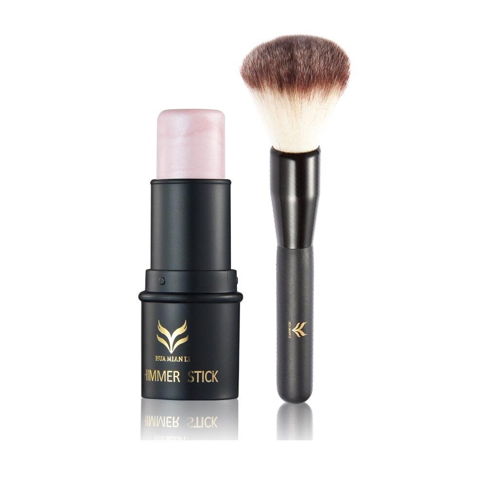 2019 nuevo 1 colores Alta Luz Ministar maquillaje facial polvo bronceador iluminador Base brillo maquillaje iluminador J919