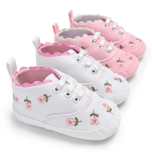 2020 New Toddle Baby Shoes Newborn Boys Girls Soft Solid Princess Crib Shoes Prewalker 0-18M