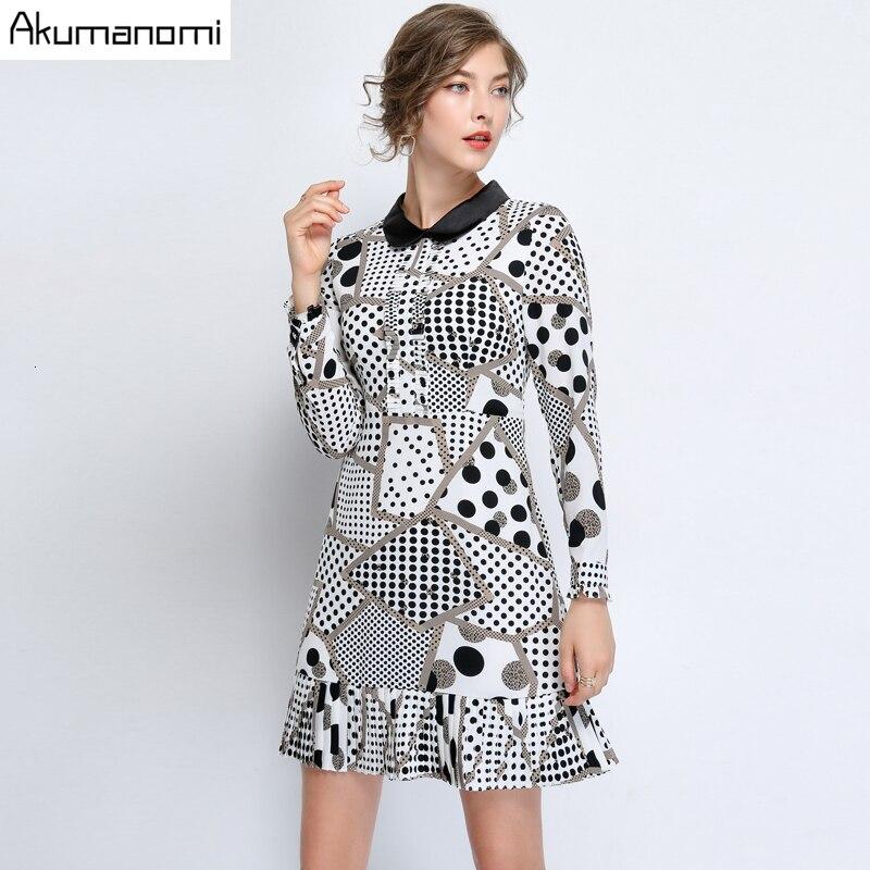 Grande taille robes décontractées 5xl 4xl xxxl à pois grande taille élégante a-ligne robe blanche avec col femmes printemps automne à manches longues