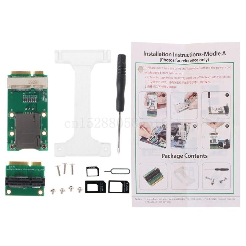 Mini adaptador PCI-E con ranura para tarjeta SIM, instalación Vertical para 3G/4G...