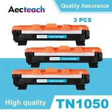 Aecteach 3PCS TN1050 Black Toner Cartridge Compatible For Brother HL-1110 1110E 1110R 1112 1112E 1202R DCP-1510 1510R Printers