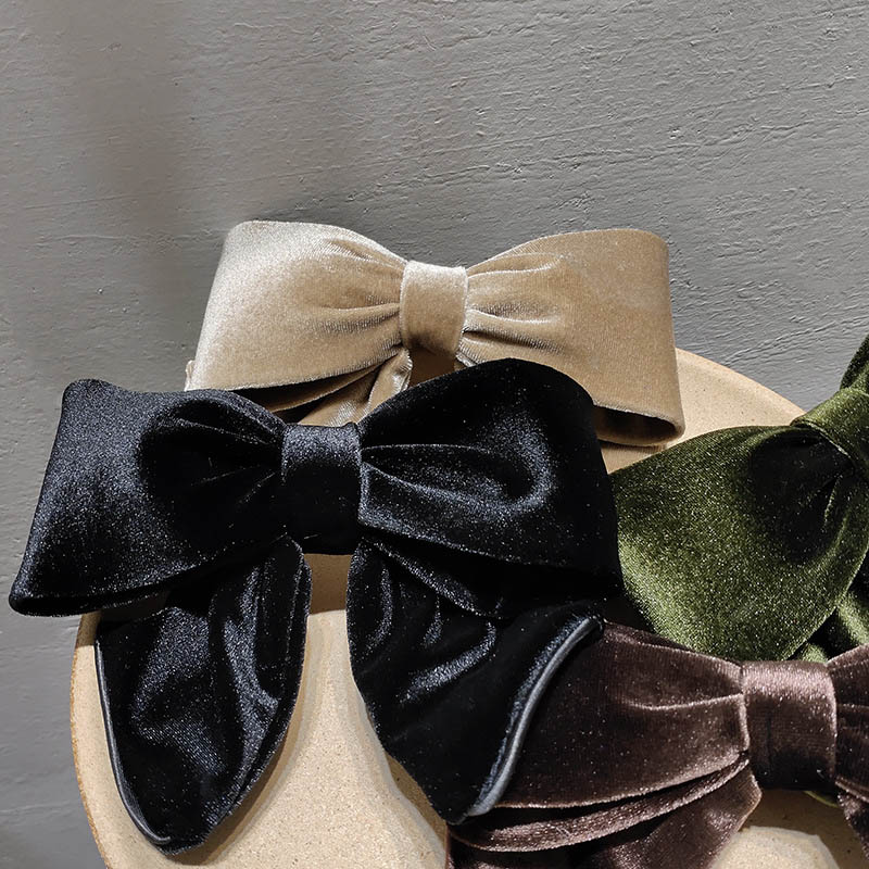 Vintage Velvet Bows Hair Clips Fashion Solid Color Hairpins For Women Girls Accessories Lovely Barrettes Headwear