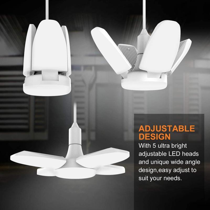 Светодиодный гараж светильник E27 38 Вт складной светильник s светильник ing 3800LM светодиодный лампы гараж потолочный светильник s для Гараж или ...