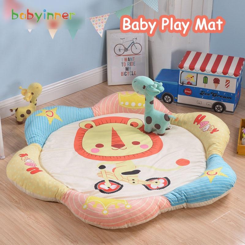 Детские игровые коврики Babyinner 140 см, утолщенный мультяшный коврик, Нескользящие ковры, детские игровые коврики, детские коврики, одеяло, деко...