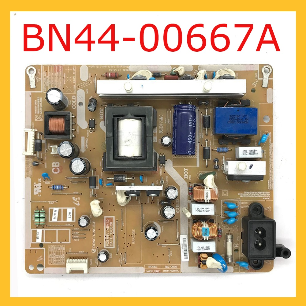 BN44-00667A placa de suporte de energia para tv fonte de alimentação original placa de alimentação acessórios bn4400667a